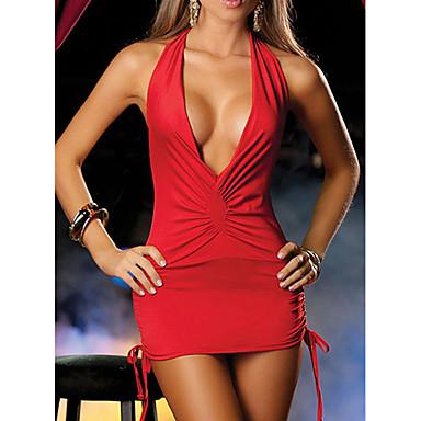 voordelige Nieuwe collectie-Dames Sexy Nachtkleding - Effen, Blote rug / Halter