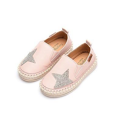 baratos Sapatos de Criança-Para Meninas Couro Ecológico Mocassins e Slip-Ons Little Kids (4-7 anos) Conforto Preto / Rosa claro / Bege Outono