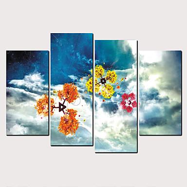 abordables Toiles-Imprimé Impressions sur toile roulées - Nature & Grand Air Céleste Classique Moderne Quatre Panneaux Art Prints