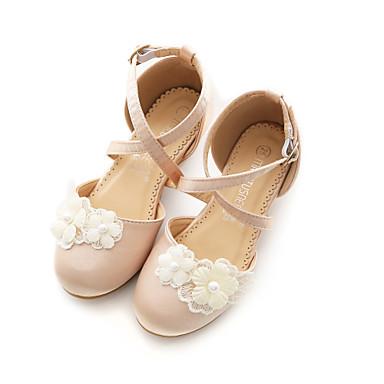 baratos Sapatos de Criança-Para Meninas Cetim Saltos Little Kids (4-7 anos) / Big Kids (7 anos +) Sapatos para Daminhas de Honra Caminhada Laço Champanhe / Ivory Primavera / Verão / Festas & Noite