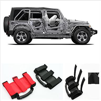 voordelige Auto-interieur accessoires-auto rolbeugel handgreep voor jeep wrangler 2007-2017 waterdichte canvas dakleuning met 3 riemen