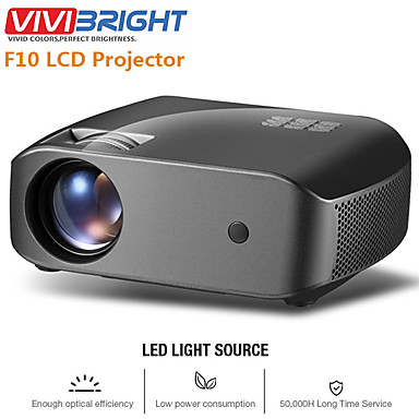 voordelige Projectors-vivibright f10 / f10up mini projector 1280 * 720p, 2800 lumen android wifi lcd led proyector ondersteuning 1080p 3d hd video beamer home entertainment bioscoop video, nieuwe hdmi usb video beamer