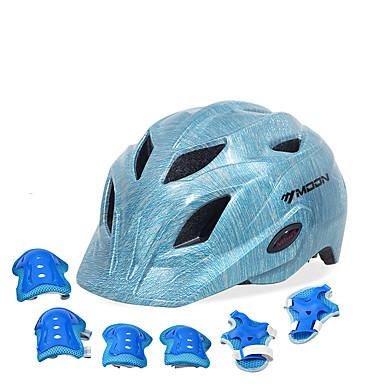billige Hjelmer-Barne sykkelhjelm BMX Hjelm 28 Ventiler EPS ABS + PC sport Utendørs Trening Sykling / Sykkel - Blå Unisex