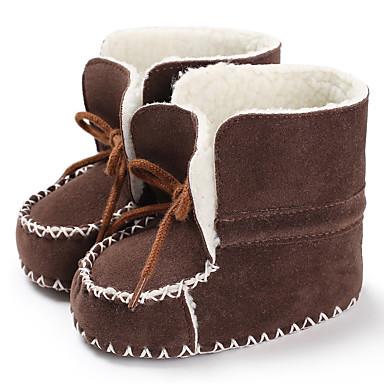 baratos Sapatos de Criança-Para Meninos / Para Meninas Algodão Botas Crianças (0-9m) / Criança (9m-4ys) Primeiros Passos Preto / Fúcsia / Rosa claro Inverno