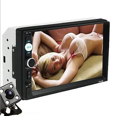 billige DVD-afspillere til bilen-7010B 7 inch 2 Din Indbygget DVD afspiller Touch-skærm / Bluetooth-højttaler / Bluetooth for Universel USB 2.0 / AUX / TF Kort Slot Support AVI / MOV / DAT mp3 / WMA jpeg / jpg / WMV / RM / RMVB