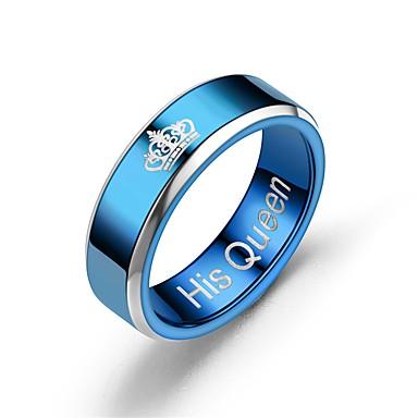 halpa Muotisormukset-Pariskuntien Parisormukset / Sormus / Tail Ring 1kpl Sininen / Tumman sininen Ruostumaton teräs Pyöreät Vintage / Perus / Muoti Lahja Pukukorut