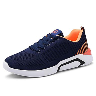 Erkek Ayakkabı PU Yaz Atletik Ayakkabılar Yürüyüş Dış mekan için Siyah / Mavi / Gri