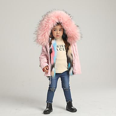 halpa Tyttöjen vaatteet-Lapset Tyttöjen Perus Yhtenäinen Sateenkaari Normaali Jakku ja takki Punastuvan vaaleanpunainen