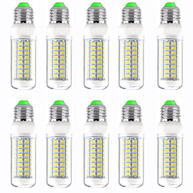 billige Elpærer-10pcs 13 W LED-kornpærer 1300 lm E14 GU10 B22 T 89 LED perler SMD 5730 Nytt Design Varm hvit Hvit 220-240 V 110-120 V