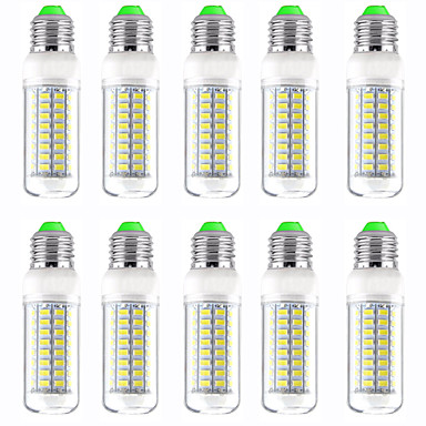 cheap Light Bulbs-10pcs 13 W LED Corn Lights 1300 lm E14 GU10 B22 T 89 LED Beads SMD 5730 New Design Warm White White 220-240 V 110-120 V