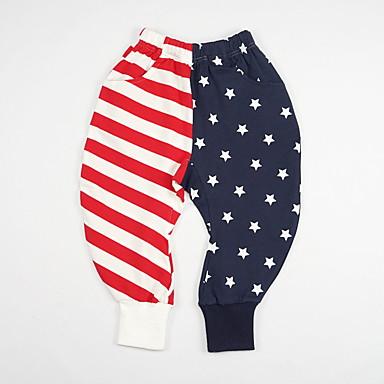 baratos Calças para Meninos-Infantil Para Meninos Moda de Rua Bandeira Calças Vermelho