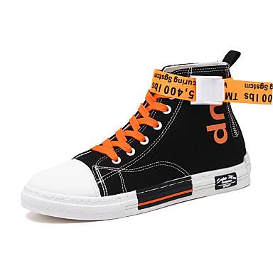 Erkek Ayakkabı Tüylü / Kanvas Yaz Günlük Spor Ayakkabısı Yürüyüş Günlük / Dış mekan için Siyah ve Beyaz / Siyah / Kırmızı / Turuncu