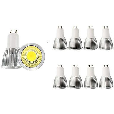 billige Elpærer-10pcs 5 W LED-spotpærer 450 lm GU10 1 LED perler COB Dekorativ Varm hvit Kjølig hvit 85-265 V