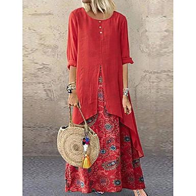 povoljno Novo u ponudi-Žene Swing kroj Haljina Na točkice Maxi