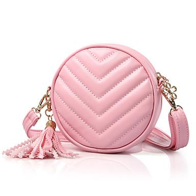 저렴한 가방-여아 태슬 우레탄 / PU 어린이 가방 한 색상 블랙 / 퍼플 / 블러슁 핑크 / 가을 겨울