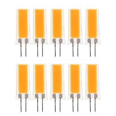 abordables Ampoules électriques-10pcs 3 W LED à Double Broches 300-390 lm G4 1 Perles LED COB Décorative Adorable Blanc Chaud Blanc Froid 220-240 V 110-130 V