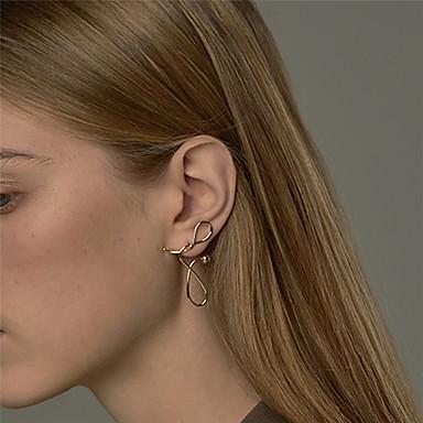 Kadın's Damla Küpeler Küpe Büküm Daire Basit Eşsiz Tasarım Avrupa Moda Küpeler Mücevher Altın Uyumluluk Günlük Sahne Cadde Tatil Çalışma 1 çift