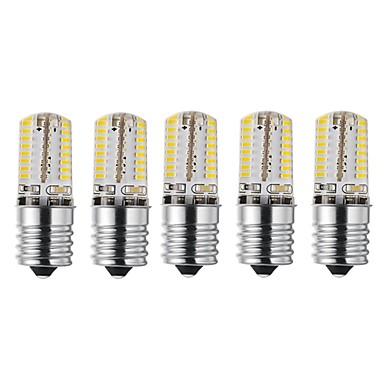 abordables Ampoules électriques-5pcs 3 W Ampoules Maïs LED 170-200 lm E17 72 Perles LED SMD 3014 Design nouveau Décorative Adorable Blanc Chaud Blanc Froid 12-24 V