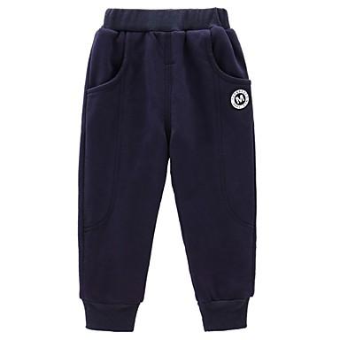 tanie Jeansy dla chłopców-Dzieci Dla chłopców Solidne kolory Jeansy Czarny