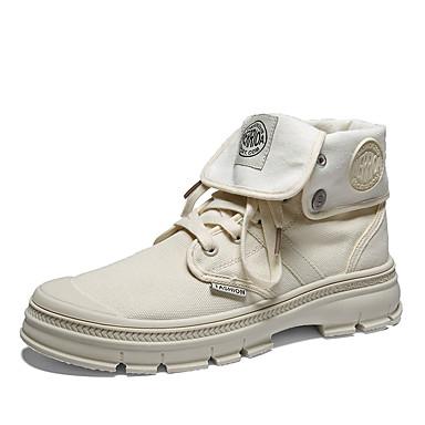 Erkek Ayakkabı Örümcek Ağı Sonbahar Kış Günlük Çizmeler Günlük için Siyah / Bej / Haki