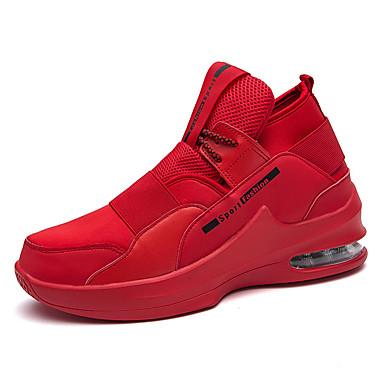Erkek Ayakkabı PU Yaz Atletik Ayakkabılar Yürüyüş Dış mekan için Siyah / Beyaz / Kırmzı