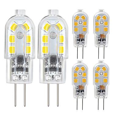 abordables Ampoules électriques-ZDM® 6pcs 2.5 W LED à Double Broches 200/250 lm G4 12 Perles LED SMD 2835 Blanc Chaud Blanc Froid 12 V