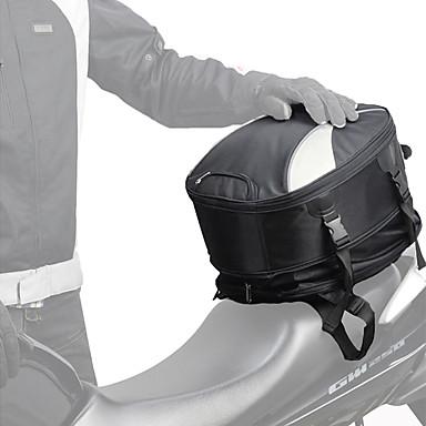 voordelige Auto-interieur accessoires-chcycle uitbreidbaar motorfiets staart tas waterdichte multifunctionele helm tas buitensporten rugzak universele achterbank tas 28l