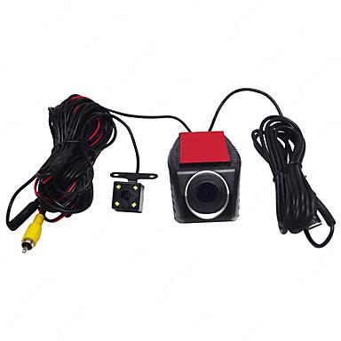billige Bil-DVR-720p HD / med bakkamera Bil DVR 170 grader Bred vinkel Dash Cam med Night Vision / Loop-cycle Recording 4 infrarøde LED Bilopptaker