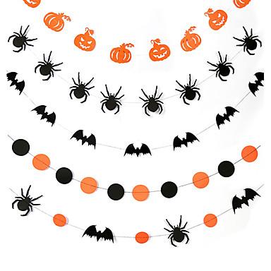 voordelige Feestbenodigdheden-Halloween / Festival Feestaccessoires Banner & loper Met patroon Puur papier Klassiek Thema / Creatief / rustieke Theme