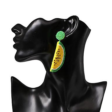 voordelige Dames Sieraden-Dames Druppel oorbellen Gevlochten Fruit Tropisch Zoet Kleurrijk Hars oorbellen Sieraden Geel / Rood Voor Vuosipäivä Straat Bar 1 paar