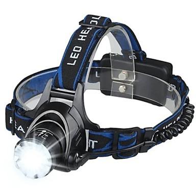 Kafa Lambaları LED LED Emitörler 3 Işıtma Modu Portatif Kamp / Yürüyüş / Mağaracılık Balıkçılık Beyaz Işık Kaynağı Rengi Bule / Siyah
