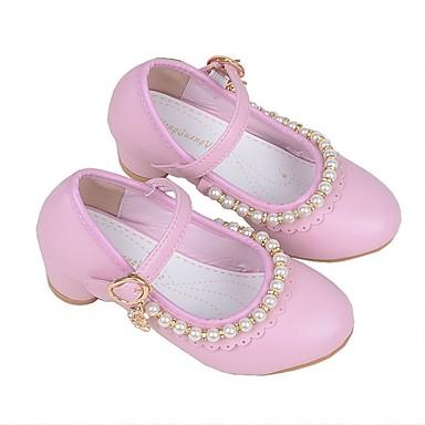 baratos Sapatos de Criança-Para Meninas Microfibra Saltos Little Kids (4-7 anos) Sapatos para Daminhas de Honra Branco / Rosa claro Verão