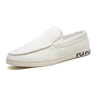 Erkek Ayakkabı PU Yaz Mokasen & Bağcıksız Ayakkabılar Dış mekan için Siyah / Yeşil / Bej