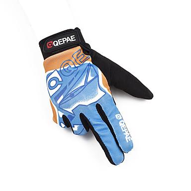 abordables Gants Velo-QEPAE Gants vélo / Gants Cyclisme Anti-Shake Vestimentaire Anti-dérapant Gants sport Bleu + Orange. pour Adulte Cyclisme sur Route Activités Extérieures Gants d'activité & du sport