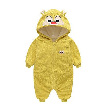 halpa Vauvojen vaatteet Pojat-Vauva Poikien Perus Geometrinen Painettu Pitkähihainen Yksiosaiset Purppura
