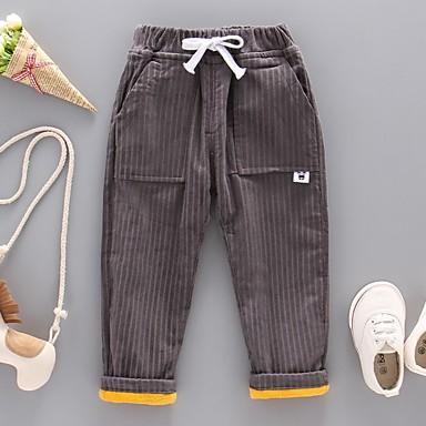 baratos Jeans Para Meninos-Infantil Para Meninos Listrado Jeans Cinzento