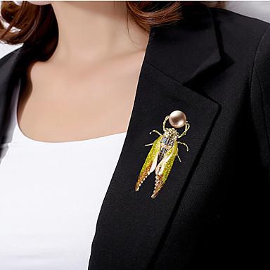 baratos Bijuteria de Mulher-Homens Broches Chique Precioso Na moda Colorido Chapeado Dourado Imitações de Diamante Broche Jóias Dourado Para Casamento Noivado Presente Trabalho Promessa