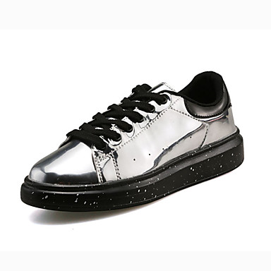 Erkek Ayakkabı PU Yaz Spor Ayakkabısı Dış mekan için Siyah / Gümüş / Mavi