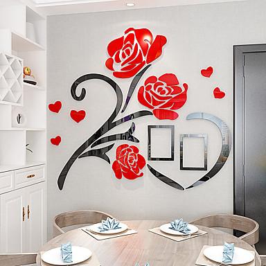 billige Hjemme Dekor-Dekorative Mur Klistermærker - 3D Mur Klistremerker Blomstret / Botanisk Stue / Innendørs