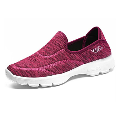 Kadın's Spor Ayakkabısı Düz Taban Tissage Volant İlkbahar yaz / Sonbahar Kış Siyah / Kırmzı / Mavi