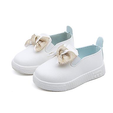 povoljno Cipele za djevojčice-Djevojčice PU Natikače i mokasinke Mala djeca (4-7s) / Velika djeca (7 godina +) Udobne cipele Mašnica Obala / Pink Jesen