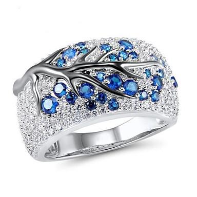 abordables Bague-Femme Bague / Anneaux 1pc Bleu Imitation Diamant / Alliage Irrégulier Rétro Vintage / Coréen / Mode Quotidien Bijoux de fantaisie