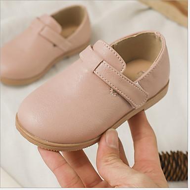 baratos Sapatos de Criança-Para Meninas Couro Ecológico Mocassins e Slip-Ons Criança (9m-4ys) Conforto Rosa claro / Bege Verão