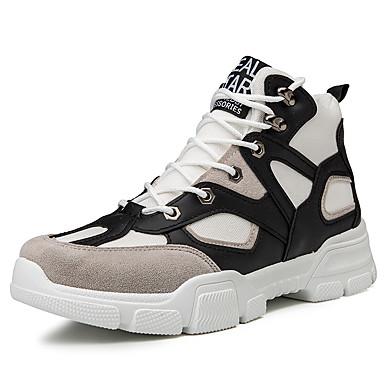 Erkek Ayakkabı Elastik Kumaş Sonbahar Kış Sportif Çizmeler Günlük için Siyah / Beyaz / Bej