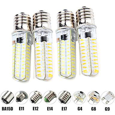 abordables Ampoules électriques-4pcs 6 W Ampoules Maïs LED LED à Double Broches 600 lm E14 G9 G4 T 80 Perles LED SMD 2835 Intensité Réglable Design nouveau Blanc Chaud Blanc 220-240 V 110-120 V