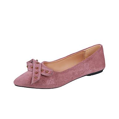 Kadın's Mokasen & Bağcıksız Ayakkabılar Düşük Topuk Sivri Uçlu Mikrofiber Minimalizm İlkbahar & Kış Siyah / Pembe
