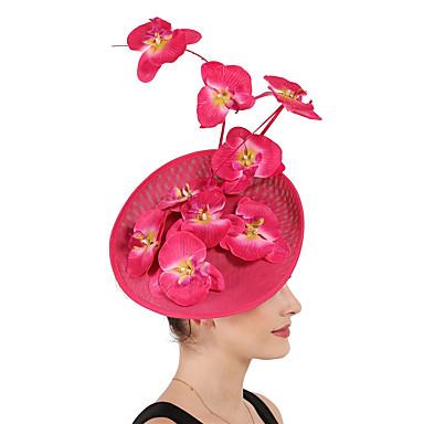 billige Hodeplagg til fest-Lin / Bomull Blanding fascinators / blomster / Hodepryd med Blomster 1 Spesiell Leilighet / Kentucky Derby Hodeplagg