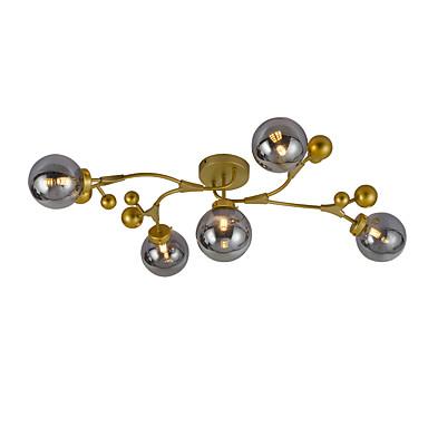 JSGYlights 5-Işık Sanayi Gömme Montajlı Işıklar Ortam Işığı Boyalı kaplamalar Metal Cam Yeni Dizayn 110-120V / 220-240V