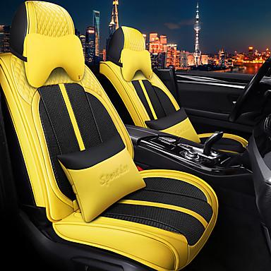 voordelige Auto-interieur accessoires-5 stks / set 5 stoel auto zitkussen vier seizoen universele sport stoelhoes inclusief 2 hoofdsteunen en 2 lendensteun compatibel met airbag