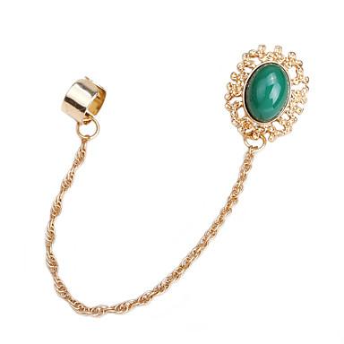 abordables Boucle d'Oreille-Femme Manchette oreille Classique Pétale Des boucles d'oreilles Bijoux Vert / Rose Pour Quotidien 1pc